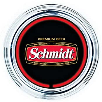 SCHMIDT BEER 15 IN ROUND NEON CLOCK - NEW