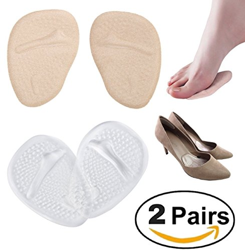 Foot Care Heel (Medical Gel Forefoot Shoe Insole Metatarsal Pads Ball of Foot Cushions for Women High Heels to Pain Relief, 2 Pairs)