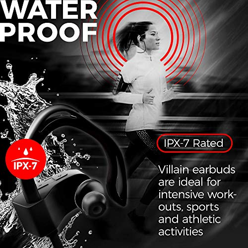 Wireless Workout Bluetooth Headphones for Running and Gym - Best Sport Earbuds for Men & Women - Waterproof IPX7 Sports Earphones - Noise Canceling Headset for iPhone & Android 3