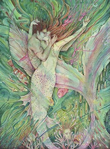Amazon Com The Mermaid And The Sailor Art Print Of Mermaid Love Handmade