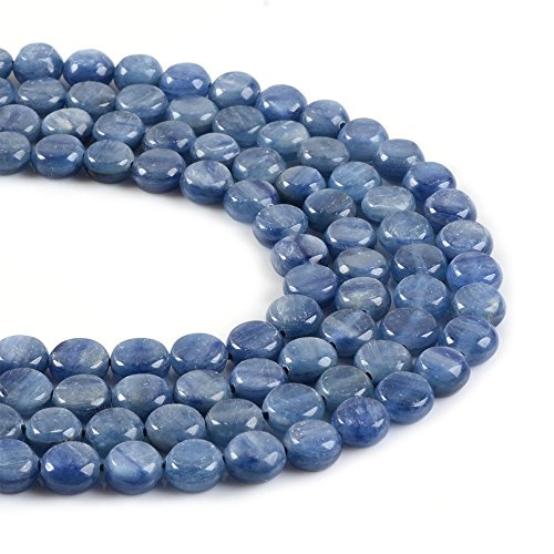 Natural Gemstone Kyanite 8mm Coin Disc Loose Beads 16