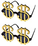 Gold Dollar Sign Sunglasses - Pack of 2