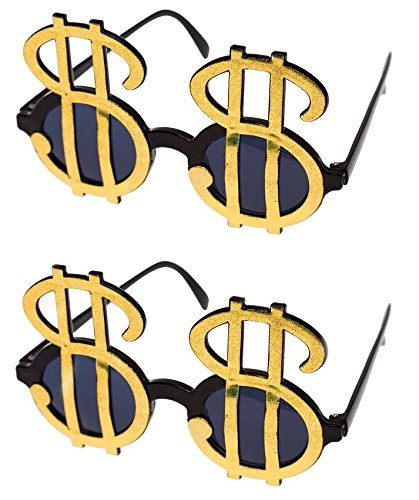 Gold Dollar Sign Sunglasses - Pack of - Sunglasses Money