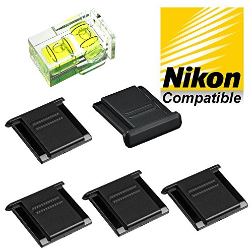 5-1-pieces-hot-shoe-cover-protector-2-axis-bubble-level-replaces-nikon-bs-1-fits-all-nikon-slr-and-d
