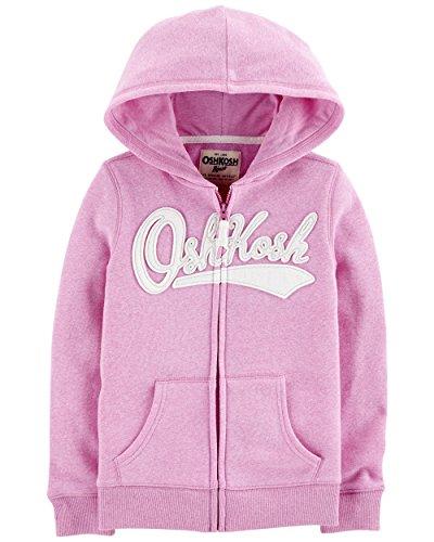 (OshKosh B'Gosh Girls' Toddler Full Zip Logo Hoodie, Lilac, 4T )