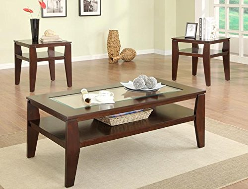 Brand New 3-pk Scott Coffee Table and End Tables Cocktail espresso finish - 48' Cocktail Table Set
