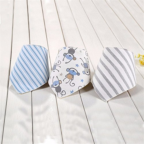 Katoot@ Hot 3 Pcs/lot Baby Bibs Bandana Cute Bird Baberos Bebes Triangle Bibs Burp Cloths Girl Boy Babadores Para Bebe Accessories (2)