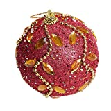 1PC Christmas Tree Ball Ornament Christmas Rhinestone Glitter Baubles Balls,Outsta Balls Xmas Tree Ornament Decoration for Holiday Wedding Party Christmas Decoration 3.14''/8cm (Red, 3.14'')