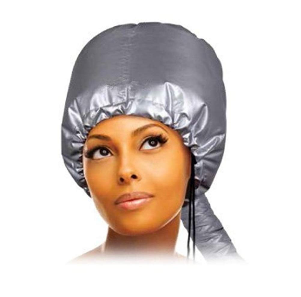Asciugacapelli Bonnet Hair Styling Cap Asciugacapelli Soft Attachment, Portable Hood Dryer, Hair Treatment Accessori Parrucchieri, Grigio, 3Pcs [Classe di efficienza energetica A] 94221