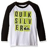 Quiksilver Little Boys' Toddler Zune Long Sleeve T-Shirt, White, 4T