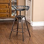 Charlie Industrial Metal Design Tractor Seat Bar Stool (Black Brushed Copper)