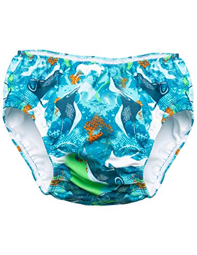 SunBusters Boy's Reusable Swim Diapers, Sapphire Manta Ray, Medium from SunBusters Sunwear