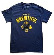 10oz Apparel Life is Brewtiful t-shirt Navy