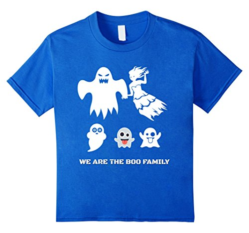 Kids Family Funny Scary Halloween costumes BOO ghost T shirt 6 Royal Blue (Weird Couples Costumes Halloween)