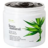 Facial Mask Oily Skin InstaNatural Dead Sea Mud Mask 19 oz- Reduce Facial Pores - Organic for Oily & Acne Prone Skin, Blemishes & Complexion - Mineral Infused Fine Line Reducing Product with Shea Butter & Aloe Vera