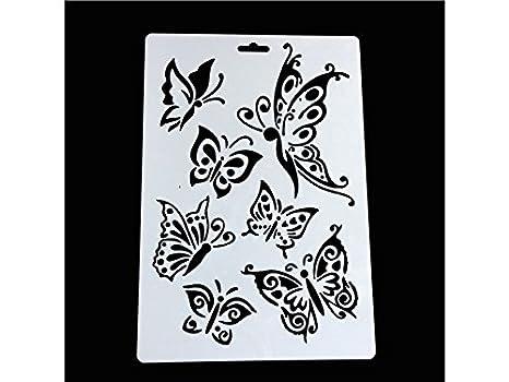 HSDDA Moldes de Chocolate Plantilla de Escala de Plantilla de Plantillas de Dibujo de Bricolaje Hueco