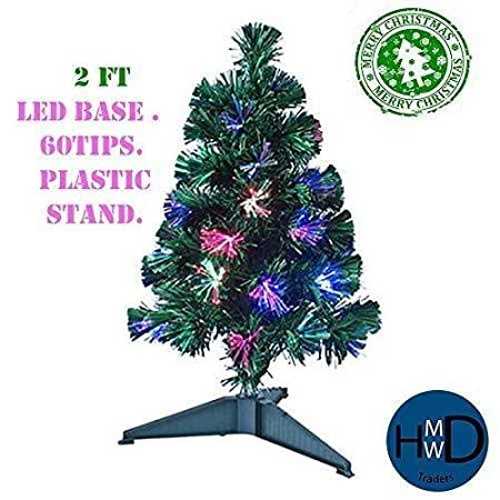 0f78346e67098 Image Unavailable. Image not available for. Colour  HMWD 2ft 3ft 4ft 5ft  6ft Beautiful Green Fibre Optic Artificial Indoor Christmas Xmas Tree New