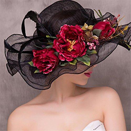 Wedding La Vintage u Lucky Accesorios Flores Elegante Lino Boda De Fiesta Grandes Tocado Knot Fascinator Real Hat qwnXOt