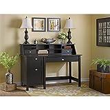 Bush Furniture Broadview Computer Desk with 2 Drawer Pedestal and Organizer