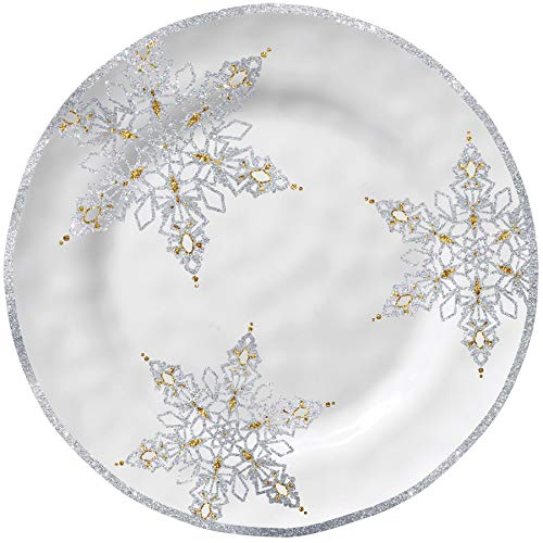 Merritt Snowflake Dreams Melamine Salad Plate, Set of -
