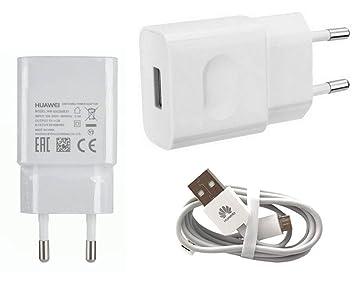 TPC - Cargador Original Huawei HW-050200E01 Micro-USB 2A para P8, P9 Lite, Mate, G8, Y5, Y6, Honor, Blanco, Bulk