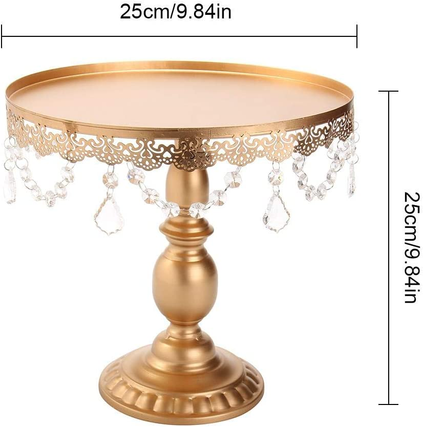 Longshow Cupcake Stand,8//10//12 Inch Gold Mirror Surface Cupcake Holder Cake Stand Chocolate Fountain for Graduation Party Supplies 2019