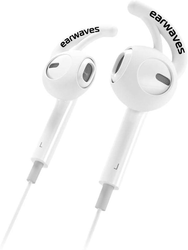 Earwaves ® - Accesorio fijador Compatible con Auriculares Apple AirPods & Apple EarPods. Compatible con Auriculares iPhone X, iPhone 8, iPhone 7, etc. Incluye 2 Tallas.