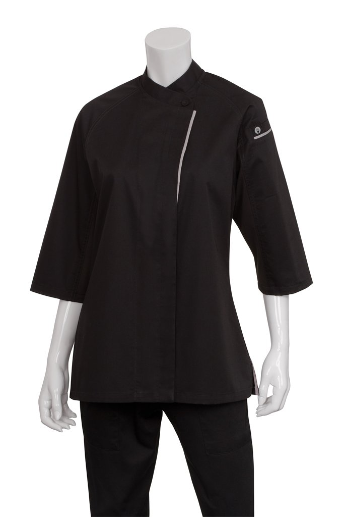 Chef Works Women's Verona 3/4 Sleeve Chef Coat (VSWO) by Chef Works