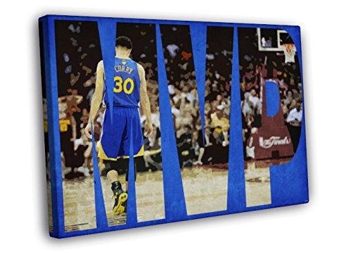 Stephen Curry Painting Art Steph MVP Golden State Warriors Basketball 30x20 Framed Canvas Print