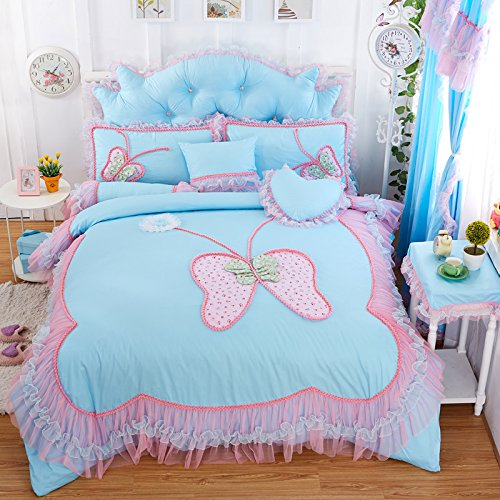 4PCS Butterfly Princess Bed Sets (Yellow) - 2