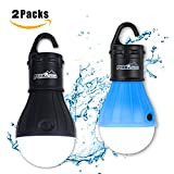 PeakAttacke Outdoor Camping Lantern Portable Waterproof LED Tent Light for , Hiking, Emergencies(2 PACK)