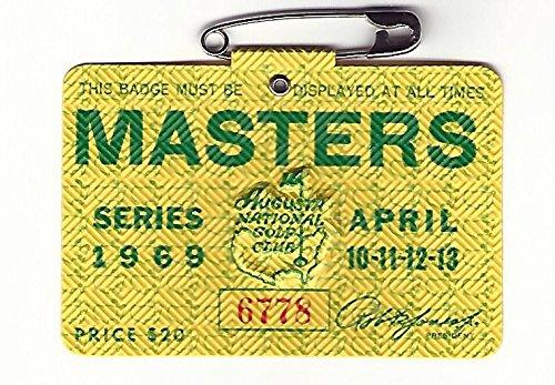 - 1969 Masters Augusta National Golf Club Badge Ticket George Archer Wins PGA