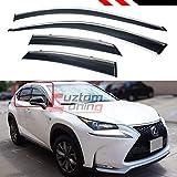 Cuztom Tuning FITS for 2015-2018 Lexus NX200t NX300H F-Sport Clip-ON Type Chrome Trim Window Visor RAIN Guard Deflector