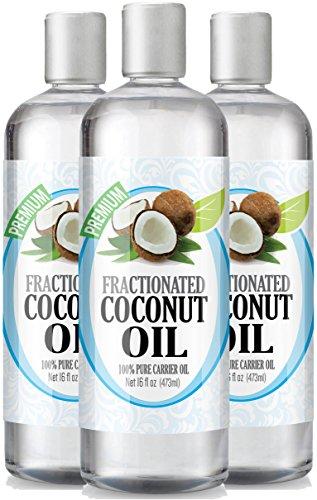 Fractionated Coconut Oil 16oz - 100% Pure, Premium Therapeut