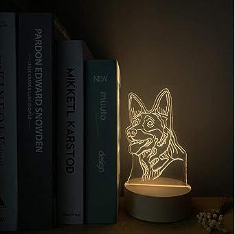 Luces De Noche 6D Lámpara De Mesa Led Acrílico Usb Sleep Light Luz ...