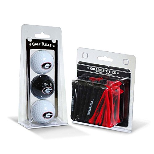 NCAA Georgia Bulldogs 3 Golf Balls And 50 Golf Tees Georgia Bulldogs Ball