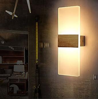 Tobbiheim LED Wandlampe 6W Acryl Modern Design Wandleuchte Innenbeleuchtung  Für Schlafzimmer, Wohnzimmer, Balkon, Treppenhaus U2013 Warmweiß (Warmweiß) ...