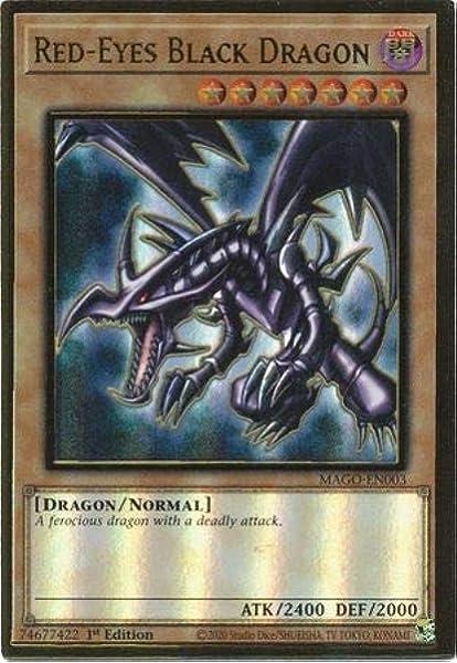 Yu-Gi-Oh Dragon Noir aux Yeux Rouges  MAGO-FR003 Gold Rare