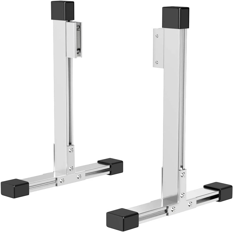 """A Pair of Large Durable Aluminum Alloy Stable Glass Stands Clamp Bracket to Support Acrylic Panels & Plexiglass Sheets 1/8"""" to 3/10"""" Thick, Freestanding Plexiglass Sneeze Shield Holders"""