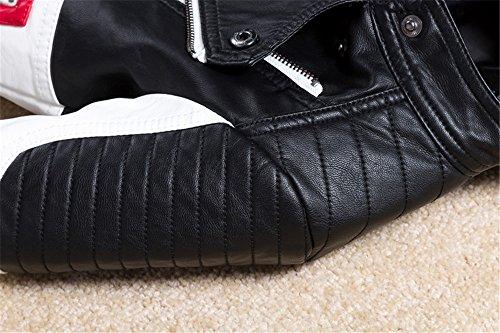 Budermmy Boys Leather Motorcycle Pilot Jackets Toddler Coats Black Size 11 by Budermmy (Image #4)