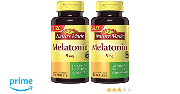 Amazon.com : Nature Made Maximum Strength Melatonin 5 mg, 90 Tablets (2 Bottles) : Beauty