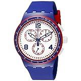 Swatch Unisex SUSZ100 Originals Analog Display Swiss Quartz Blue Watch