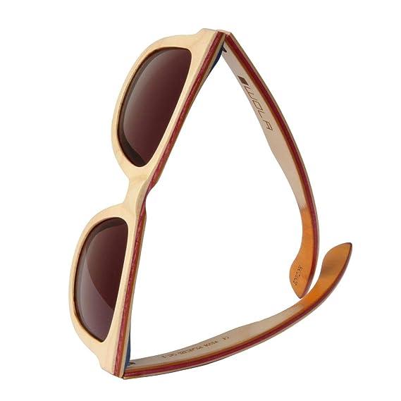 wola damen herren sonnenbrille holz air eckige brille dicke brucke skateboard holz polarisiert uv400 ahorn beige