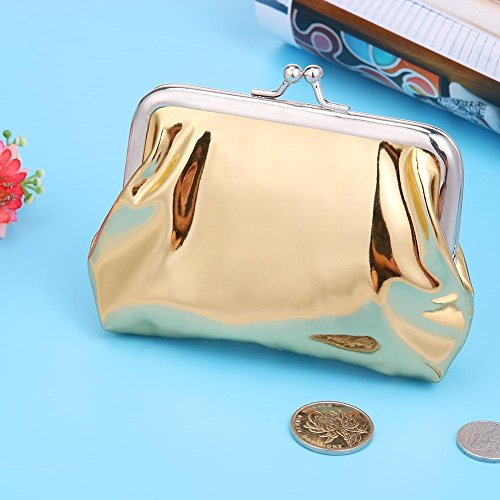 Clutch Holder Patent Party Everpert Wallets Coin Clip Mini Lady Gold Leather Women qAgUwvp