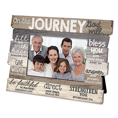 Lighthouse Christian Products Journey Stacked Wood Frame ()