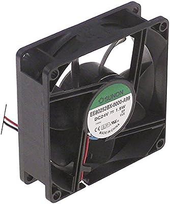 COMMONWEALTH - Ventilador axial (1,9 W, 24 V CC, cable de conexión de plástico, ancho 80 mm, altura 25 mm, cable 300 mm, longitud 80 mm, 70 A): Amazon.es: Industria, empresas y ciencia