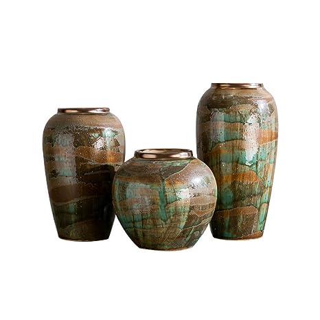 Sxbisheng Cache Pots Exterieurs Grand Vase 3 Vases En