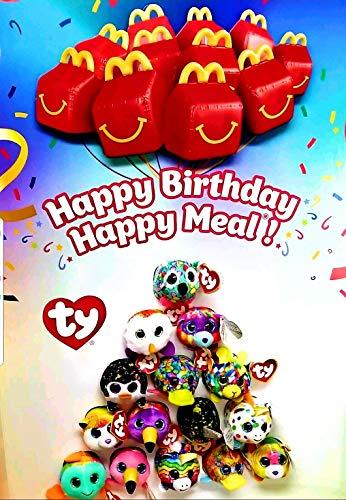 (12pc Complete Set McDonalds TY Teenie Beanie Babies 40 Years of Happiness 2019)