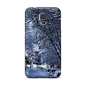 Ideal Michaelphones99 Cases Covers For Galaxy S5(snowy Park At Night), Protective Stylish Cases