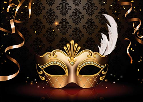 Custom Masquerade Mask - AIIKES 7x5FT Masquerade Mask Photography Backdrop Birthday Music Photo Backgrounds Party Wedding Backdrops Custom Birthday Party Photographic Photo Studio 11-418